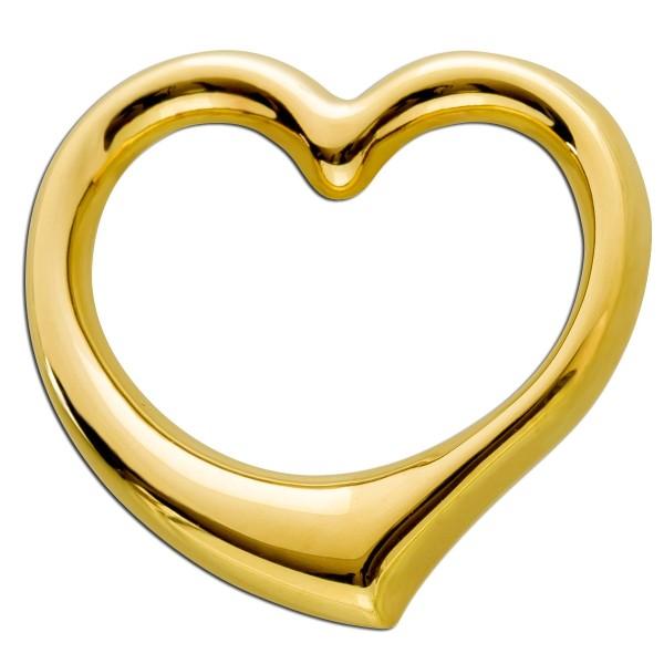 Goldanhänger Herz Gelb Gold 333