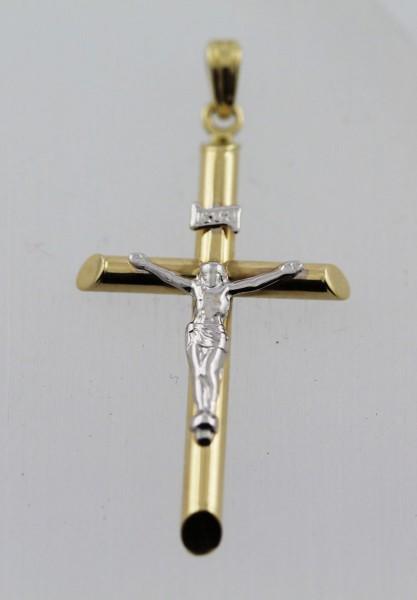 Kreuzanhänger – Goldanhänger Gelbgold 333 poliert rhodiniert