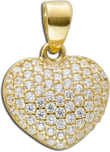 Anhänger Herz Gold 333 Kettenanhänger ...