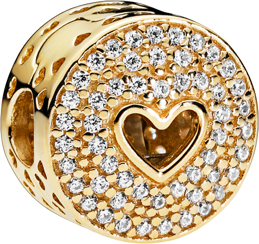 PANDORA SALE Gold Clip 757557CZ Heart of...