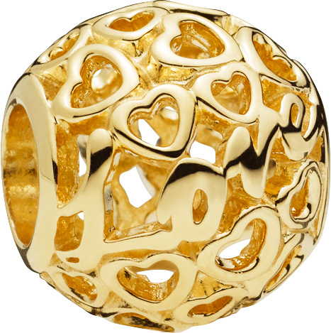 PANDORA Gold Charm 757539 Glowing with L...