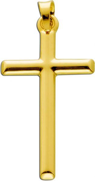 Kreuz Anhänger Gelbgold 333 halb massiv Damen Herren