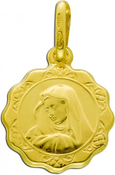 UNO A ERRE Maria Anhänger Gelbgold 375 ...