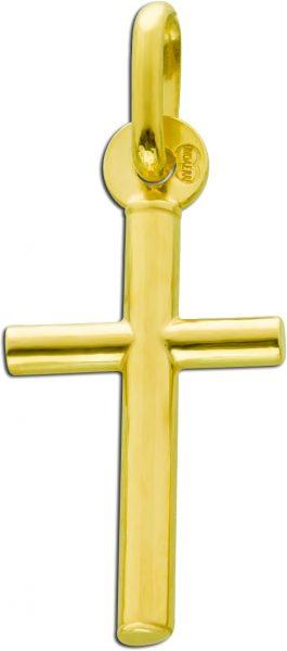 UNO A ERRE Kreuzanhänger Gelbgold375 Go...
