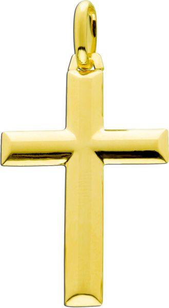 UNO A ERRE Kreuzanhänger Gelbgold 375 Goldschmuck
