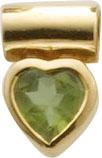 Extravaganter Herzanhänger Gelbgold 333/- mit echtem wunderschönem Peridotstein. Durch die polierte Oberfläche erhält dieser Anhänger wahren Glanz. Maße des Anhänger´s 12,0 X 8,0 mm, Lg. 3,0 mm, Gewicht 1,8 gr.  Wunderschönes Design von Deutschlands größt