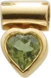 Extravaganter Herzanhänger Gelbgold 333/- mit echtem wunderschönem Peridotstein. Durch die polierte Oberfläche erhält dieser Anhänger wahren Glanz. Maße des Anhänger´s 12,0 X 8,0 mm, Lg. 3,0 mm, Gewicht 1,8 gr. Wunderschönes Design von Deutschlands größte
