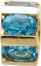 Glanzvolle Auftritte garantiert mit unseren modernen Scala Anhänger in Rondellform, mit 6 wunderschönen facettierten Blautopas, eingearbeitet in feinem Gelbgold 333/- poliert. Lg. 4,0 mm, 10mm Durchmesser. Gewicht 2gr. Passend für gängige Sammelsysteme. E