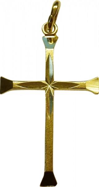 Anhänger Kreuz in poliertem Gelbgold 333/- Länge 29 mm x Breite 17mm