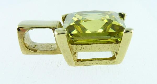 Anhänger Gelbgold 333 1 Peridot