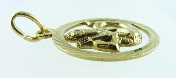 Anhänger Gelbgold 333 Poseidon Gott des...