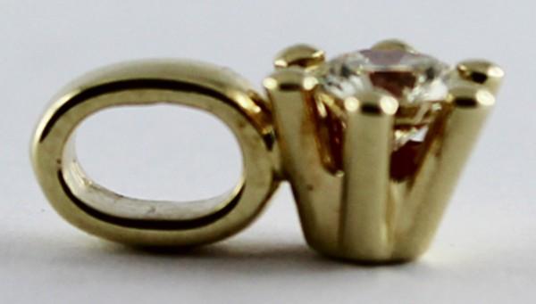 Anhaenger in Gelbgold 585/- mit 1 Brilla...