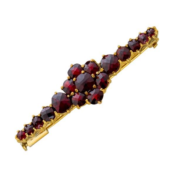 Anstecknadel – Brosche Antik Rosegold 333 Granat