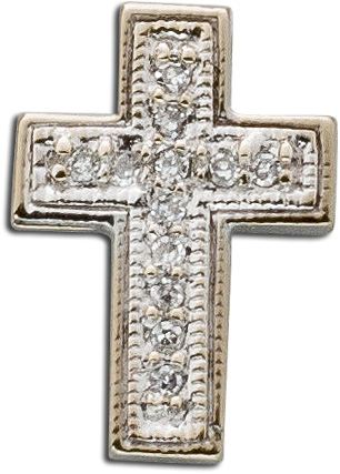 Anhänger – Kreuzanhänger Weißgold 750 12 Diamanten 0,12ct 8/8 TW/SI