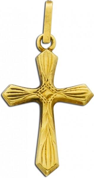 Anhänger Kreuzanhänger Gelbgold 585