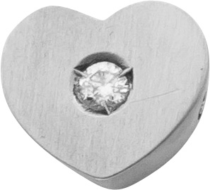 Edelsteinanhänger Herz Diamant Brillant...