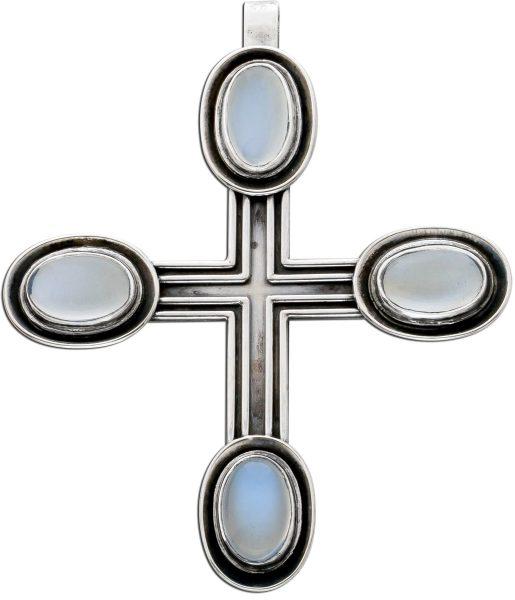 Kreuzanhänger Antik um 1900 Silber 800 ...