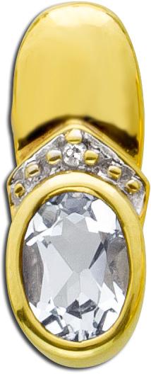 Blautopasanhänger Gelbgold 333 Diamante...
