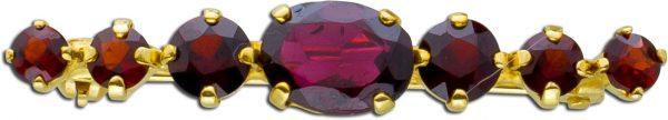 Granatanhänger Anstecknadel rote Granat...