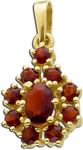 Granat Edelsteinanhänger Gelb Gold 333 ...