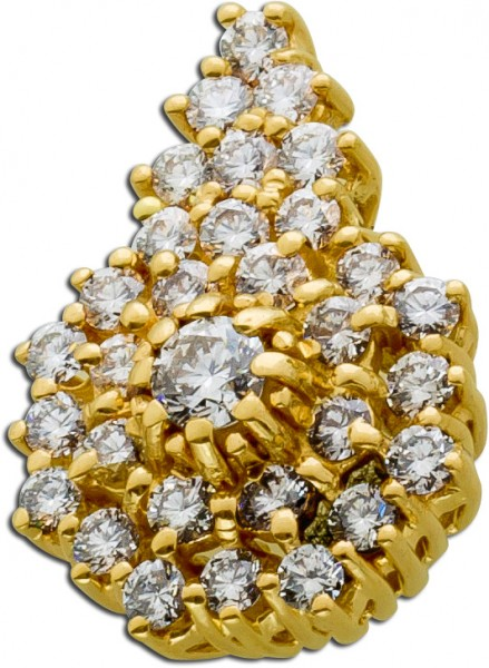 Brillantanhänger Gold 585 Anhänger Diamanten Brillanten Goldschmuck Diamantschmuck