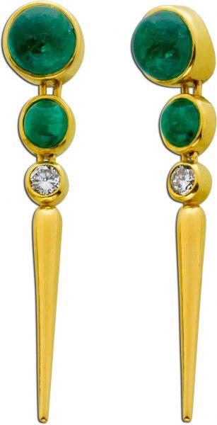 Edelstein grün Smaragd Anhänger Gold 7...