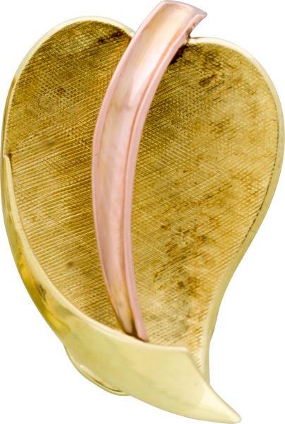 Blatt Anhänger Gelb Rosé Gold 585 Lapp...