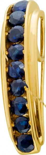 Goldanhänger blauen Saphir Gelbgold 375...