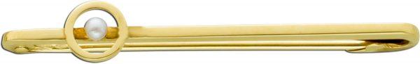 Antike Anstecknadel Anhänger weißer Orientperle Gelbgold 585 20er Jahren
