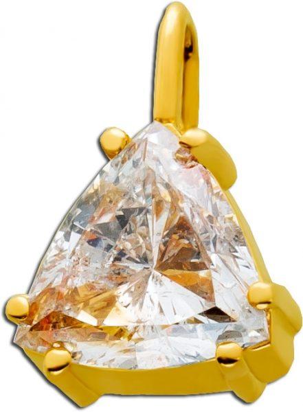 Diamant Anhänger Gelbgold 750 Triangel ...