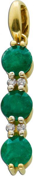 Smaragd Anhänger Gelbgold 333/- Smaragd...