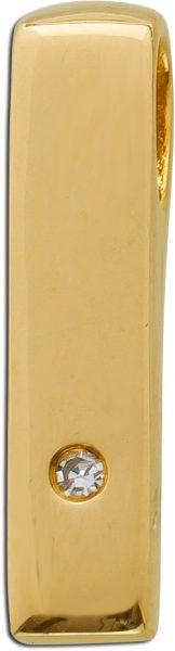 Anhänger Gelbgold 585/- Diamant 0,01ctW/SI, 16×3,5mm