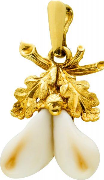 Antiker Grandel Anhänger Gelbgold 585 Einzelstück Um 1930 Sehr Guter Zustand