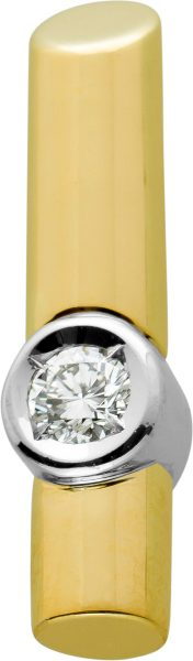 Brillant Anhänger Gelbgold,Weissgold 585, Brillant 0,35ct TW/VVSI mit Görg Zertifikat