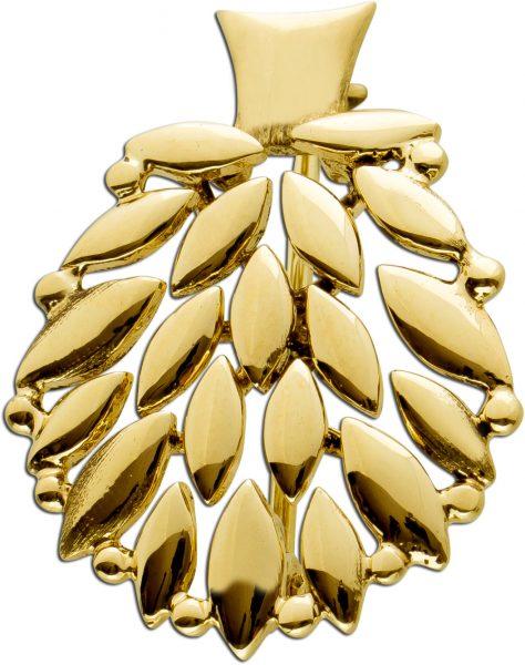 Anstecknadel Anhaenger Gelbgold 585 Lebensbaum Design 24,5x17mm