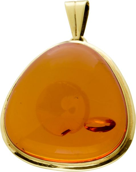 Anhänger Gelbgold 333 1 Bernstein Edelstein 36,8×28,4 Antik 1920