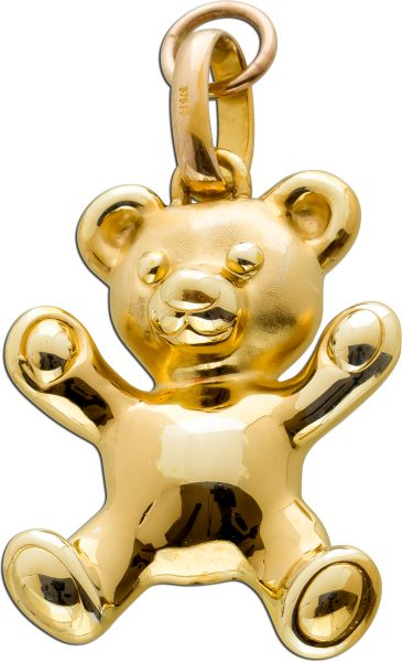 Bär Anhänger Gelbgold 9 Karat 375 Goldschiede Designer Schmuck