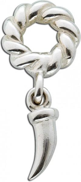 Anhänger Beadsanhänger Sterling Silber 925 Zahn