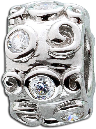 Anhänger Bead Sterling Silber 925 Zirko...