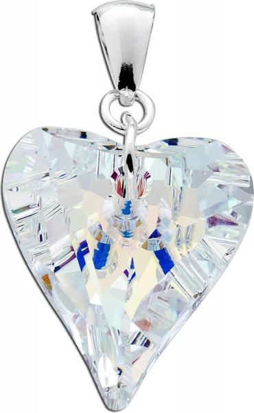 Anhänger Herz Sterling Silber 925 Zirkonia