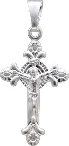 Süßer Anhaenger Kreuz in echtem Silber Sterlingsilber 925/-, poliert.Länge x Breite des Anhängers: 28x19mm, geeignet für Ketten bis zu einer Stärke von 3mm.  ein schönes Mitbringsel aus dem Hause Abramowicz in Stuttgart. Kommen Sie auch in unseren Outle