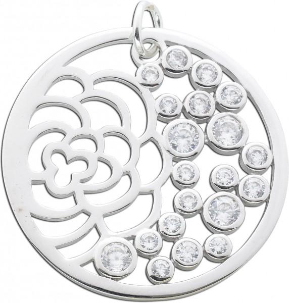 Anhänger Blume Sterling Silber 925 Zirk...