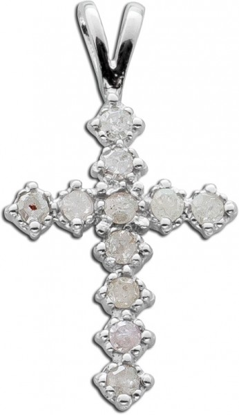 Anhänger Kreuz Sterling Silber 925 Diam...