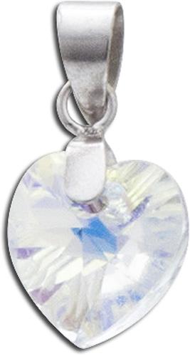 Anhänger 925er Sterling Silber Swarovski Element aurore boreale Herz