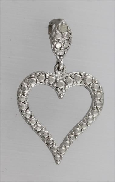 Anhänger Herz in Silber Sterlingsilber ...