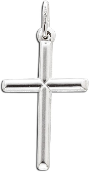 Kreuzanhänger Kettenanhänger klassisch Sterling Silber 925 Kreuz
