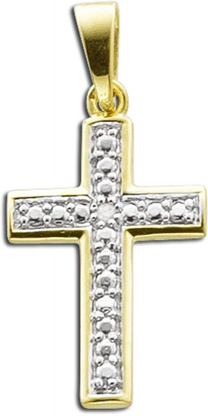 Anhänger Sterling Silber 925  Kreuz gel...