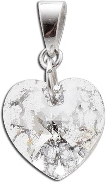 Anhänger Sterling Silber 925 Herzanhänger mit Swarowski Kristall