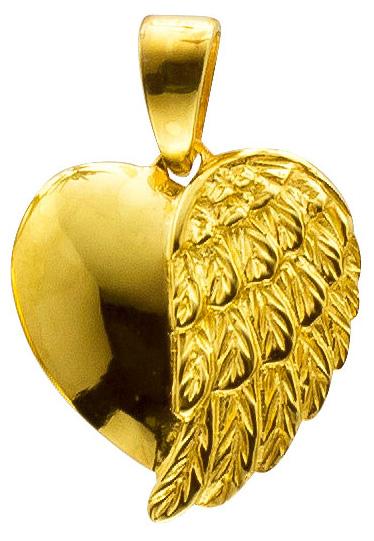 Anhänger Flügelherz – Sterling Silber 925/- vergoldet