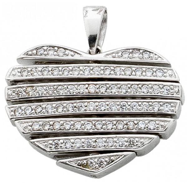 Herzanhänger – Sterling Silber 925 Zirkonia